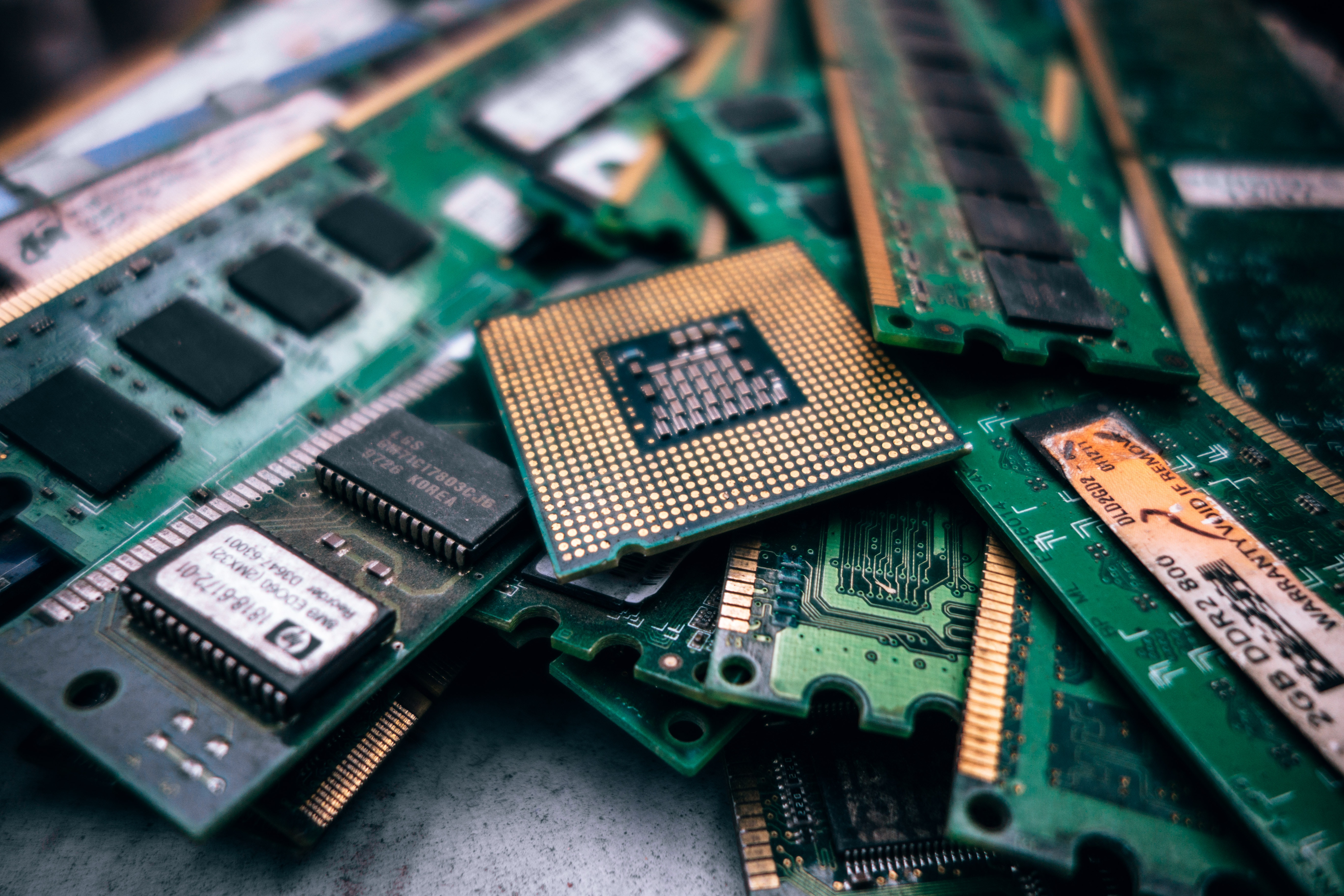 computer ram and processing chips